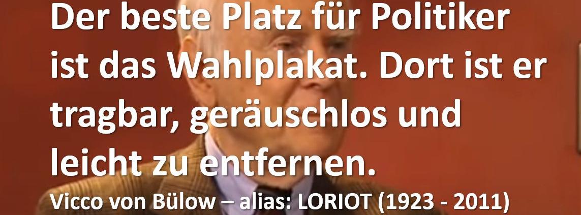 Loriot über Politiker